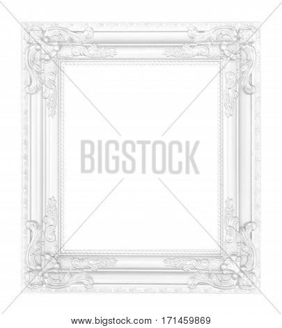 antique white frame isolated on white background