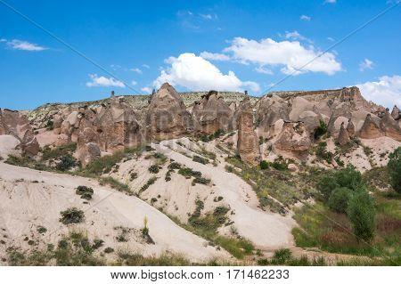 A rock formation at the Devrent Valley in Cappadocia Turkey