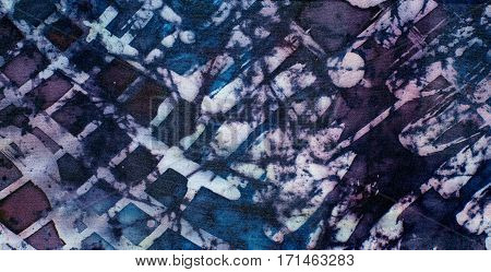 Abstraction, Fragment, Hot Batik, Background Texture, Handmade On Silk,  Abstract Surrealism Art