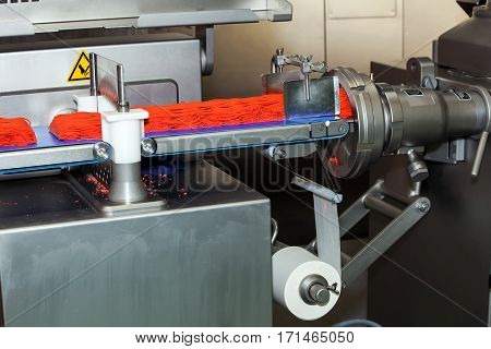 Ground meat production line, fully automatic production and portioning equipment