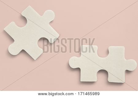 Jig Saw Puzzle Isolated Pieces