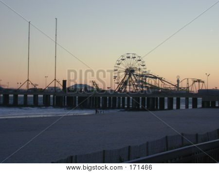 Ride Pier Sunset