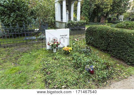 Grave Of Christa Wolf At Old  Dorotheenstaedtischer Friedhof