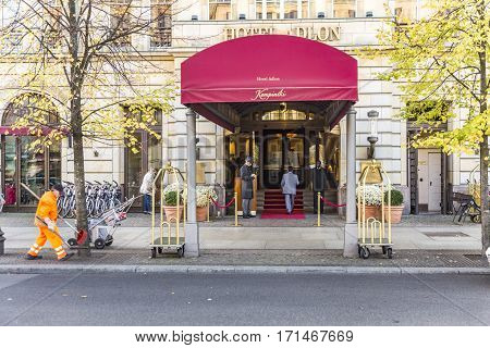 Hotel Adlon Kempinski With Unidentified People.
