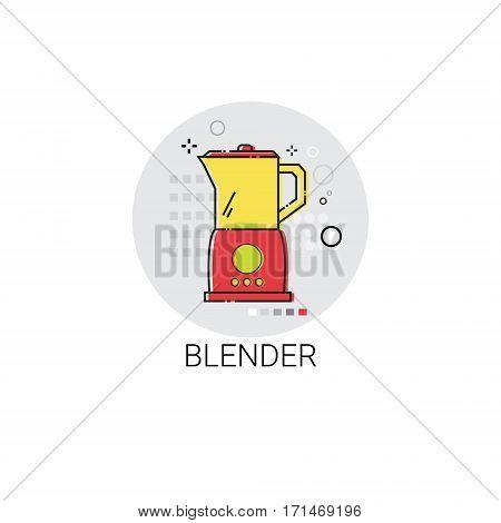Blender Electronic Cooking Utensils Icon Vector Illustration