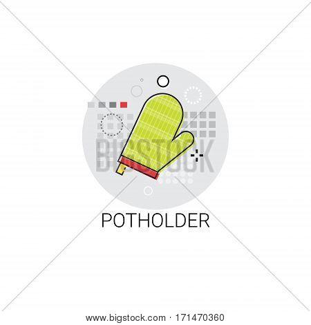Pot Holder Cooking Utensils Kitchen Equipment Appliances Icon Vector Illustration