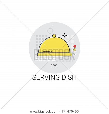 Serving Dish Cooking Utensils Kitchen Equipment Appliances Icon Vector Illustration