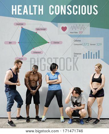 Diverse People Health Conscious Concept