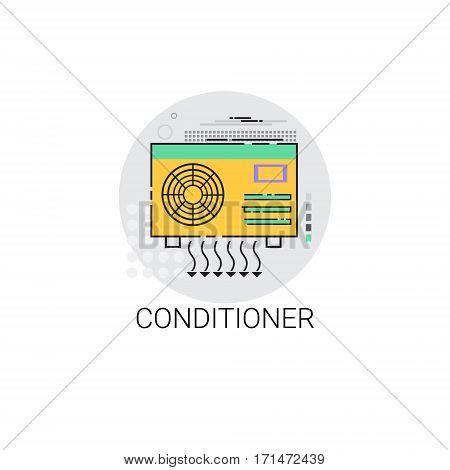 Conditioner Household House Heating Icon Vector Illustration