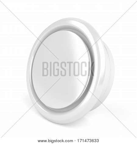 Round air vent cover on white background, 3d illustration