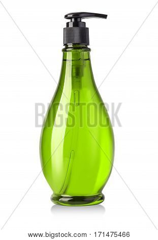 cosmetic plastic bottle isolated on white background with clipping path