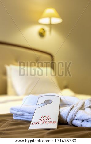 Do Not Disturb sign on hotel room's