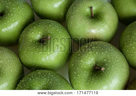 Extreme close-up image of apples, background image