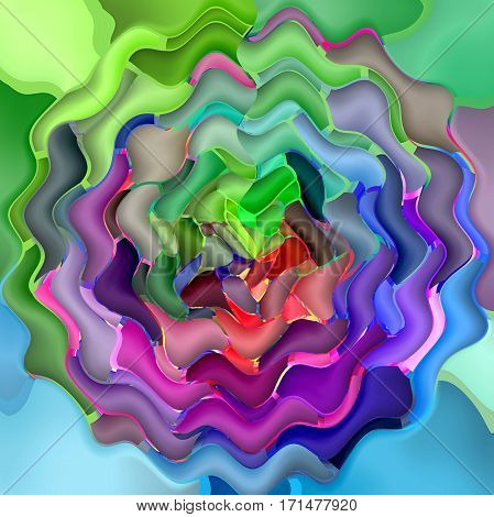 Abstract coloring background of the nauseating headache  gradient with visual wave,mosaic,poolar coordinates  and lighting effects