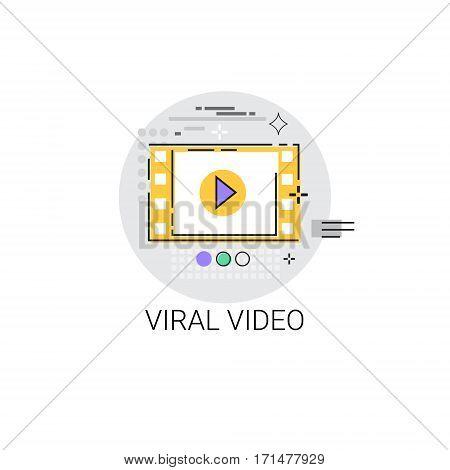 Viral Video Digital Marketing Icon Vector Illustration