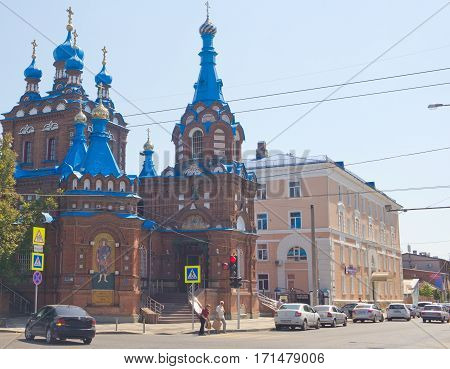 KRASNODAR, RUSSIA - AUGUST 19, 2016:The temple of the Holy great Martyr George the Victorious