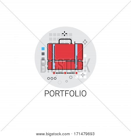 Portfolio Professional Occupation Business Icon Vector Illustration