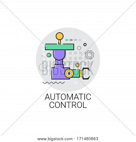 Automatic Control Machinery Industrial Automation Industry Production Icon Vector Illustration