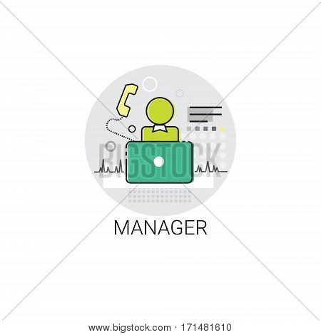 Manager Icon Management Business Team Leadership Vector Illustration