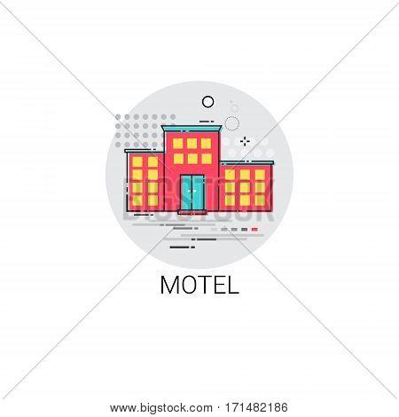 Motel Building Apartment Service Icon Vector Illustration