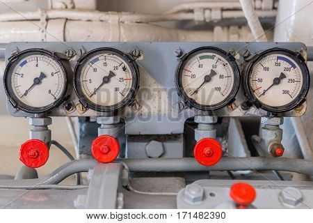image of measuring instruments on the ship