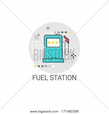 Gas Petrol Fuel Station Automobile Service Icon Vector Illustration