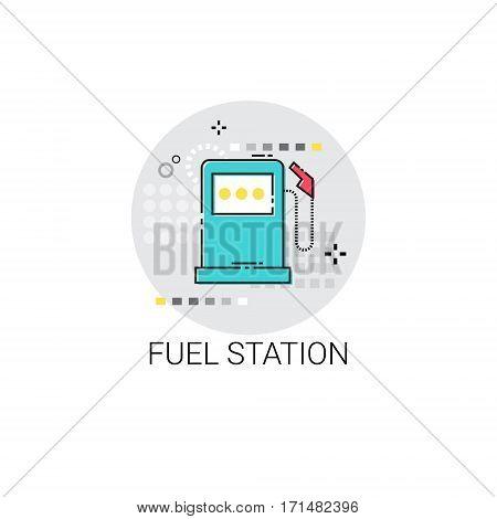 Gas Petrol Fuel Station Automobile Service Icon Vector Illustration