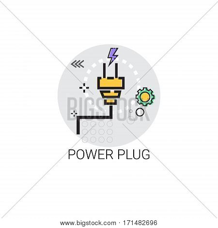 Energy Supply Power Plug Icon Vector Illustration