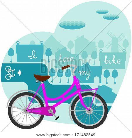 I love outing on the bike illustration