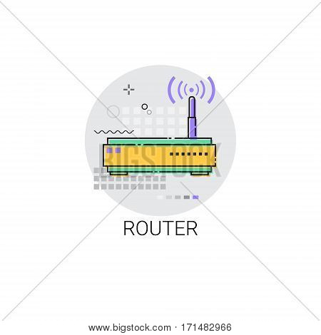 Wifi Router Internet Connection Icon Vector Illustration