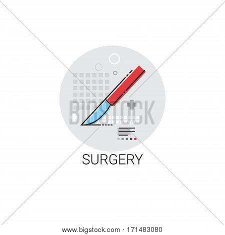Surgery Hospital Doctors Clinic Medical Treatment Icon Vector Illustration