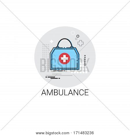 Ambulance Hospital Doctors Clinic Medical Treatment Icon Vector Illustration