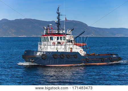 Abramis Tug Boat With White Superstructure