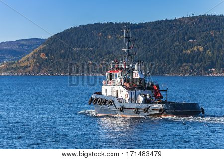Blue Tug Boat Abramis, Norway