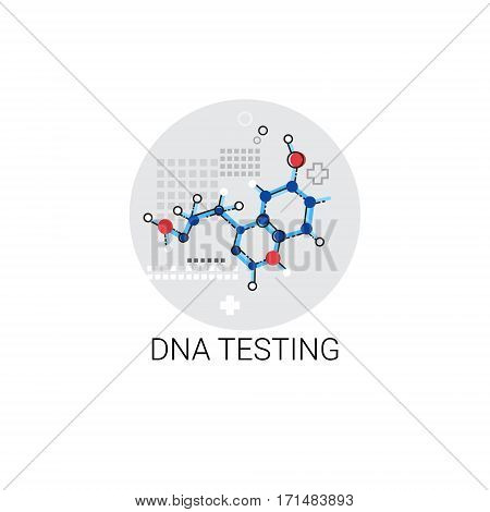 DNA Test Hospital Doctors Clinic Medical Treatment Icon Vector Illustration