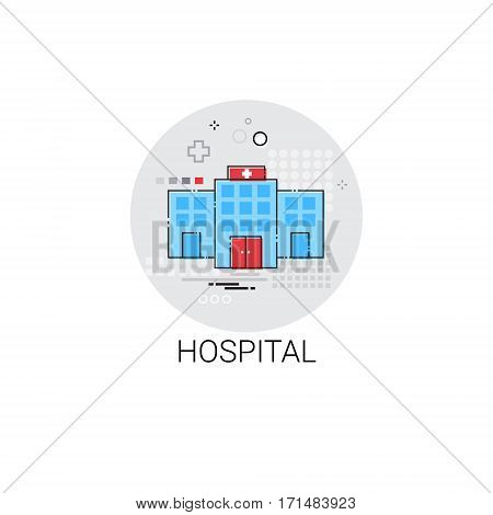 Hospital Building Doctors Clinic Medical Treatment Icon Vector Illustration