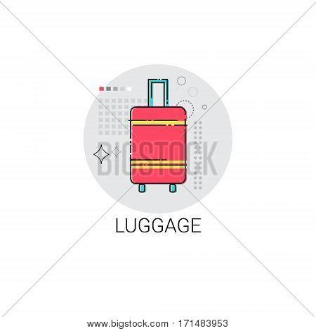 Luggage Travel Case Baggage Icon Vector Illustration