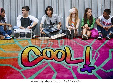 Cool Chill Chic Creative Fashion Fresh Trends Concept