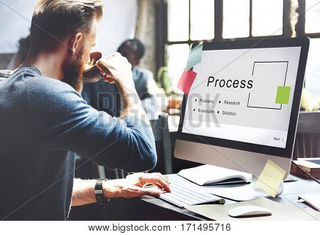Process Business Startup Strategy Goals Concept
