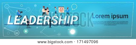 Business People Mix Race Leadership Management Concept Flat Vector Illustration