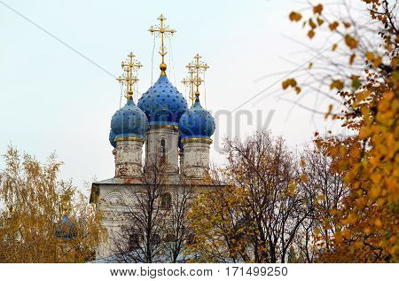 Church of the Kazan icon of the Mother of God of the seventeenth century in the park Kolomenskoye. Moscow, Russia.