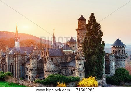 Ancient castle. Fantastic views the beauty of the world Germany Europe