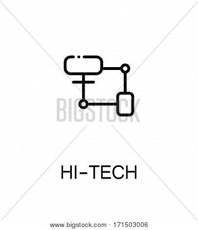 Hi-tech icon. Single high quality outline symbol for web design or mobile app. Thin line sign for design logo. Black outline pictogram on white background