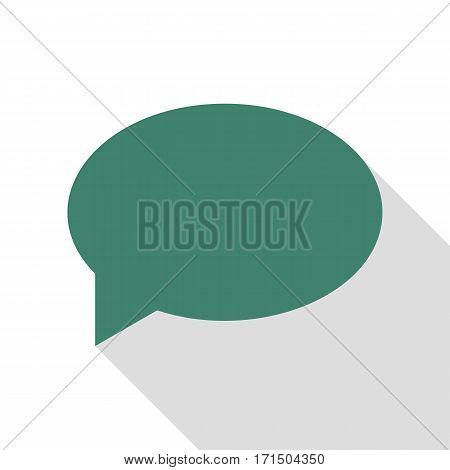 Speech bubble icon. Veridian icon with flat style shadow path.