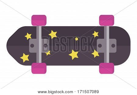 Skateboard, fingerboard icon extreme sport sign. Vector different details urban art silhouette. Street graphic deck skater symbol active fun ride.