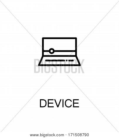 Device icon. Single high quality outline symbol for web design or mobile app. Thin line sign for design logo. Black outline pictogram on white background