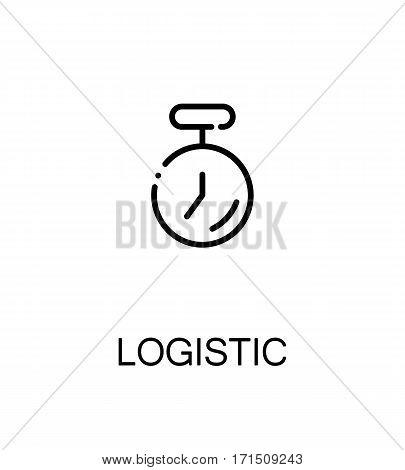 Logistic icon. Single high quality outline symbol for web design or mobile app. Thin line sign for design logo. Black outline pictogram on white background