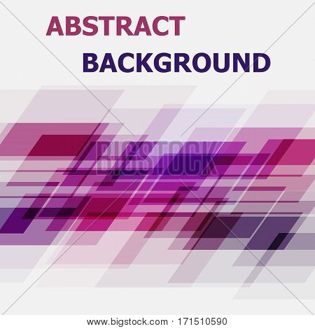Abstract purple and pink geometric overlapping background, stock vector