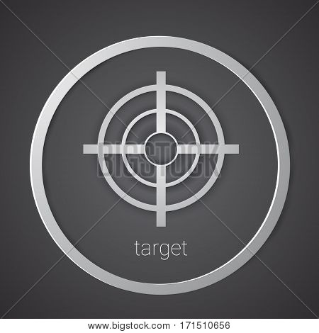 Target Icon Strategy New Idea Business Concept Flat Vector Illustration