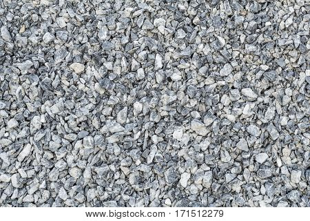 small crushed stones stack for construction home and others